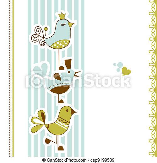 Birds baby shower  - csp9199539