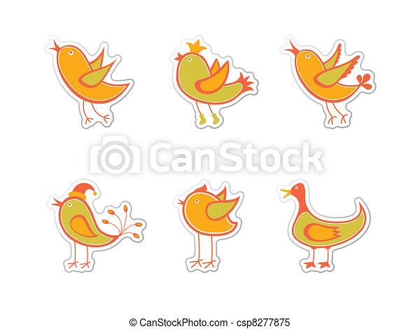Birds - csp8277875