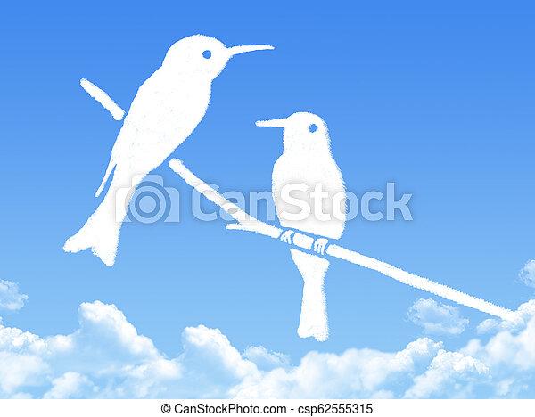 birds cloud shape - csp62555315