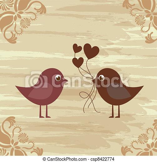 Birds couple - csp8422774