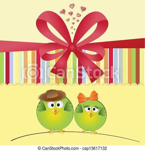 Birds couple in love - csp13617132
