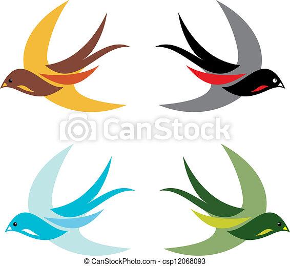 birds  - csp12068093