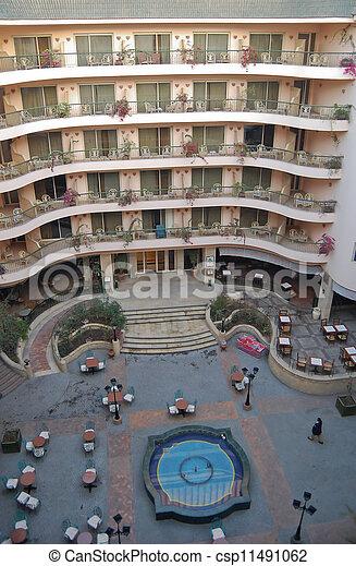 Bird's eye view of hotel - csp11491062