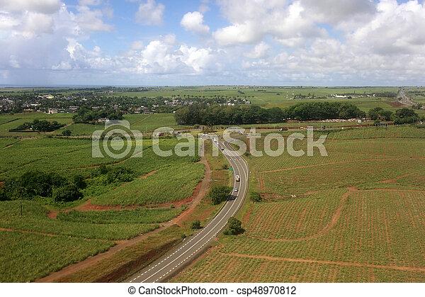 Bird's eye view of Mauritius - csp48970812