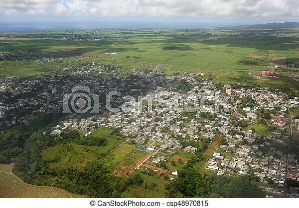 Bird's eye view of Mauritius - csp48970815