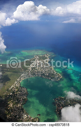 Bird's eye view of Mauritius - csp48970818