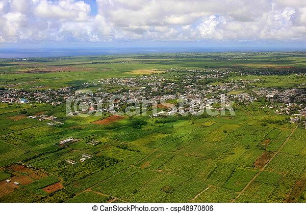 Bird's eye view of Mauritius - csp48970806