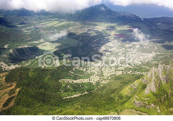 Bird's eye view of Mauritius - csp48970808