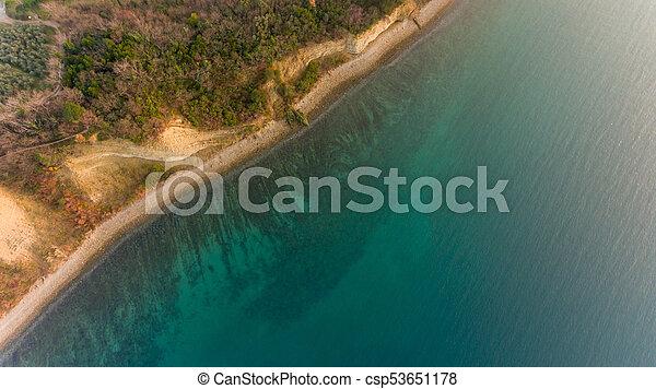 Bird's eye view of sea shore. - csp53651178