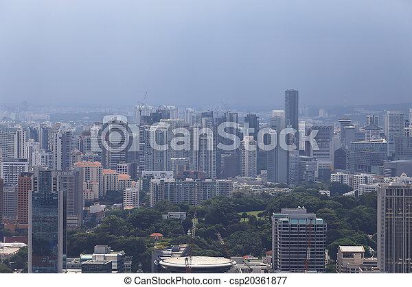 Bird's eye view of Singapore - csp20361877
