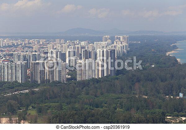 Bird's eye view of Singapore - csp20361919