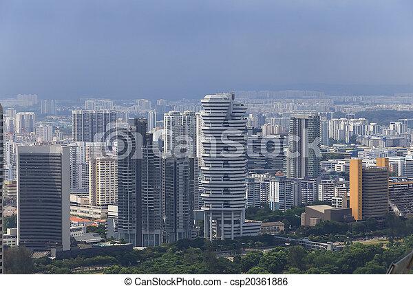 Bird's eye view of Singapore - csp20361886
