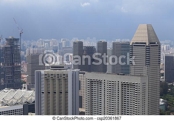 Bird's eye view of Singapore - csp20361867