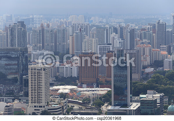 Bird's eye view of Singapore - csp20361968