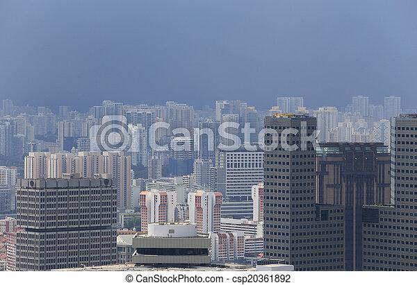 Bird's eye view of Singapore - csp20361892