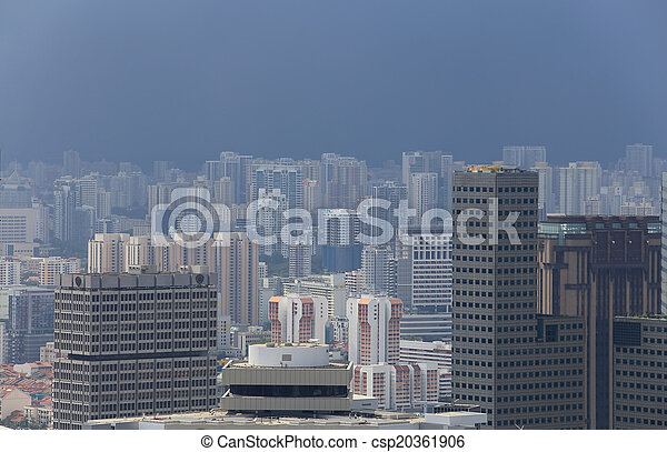 Bird's eye view of Singapore - csp20361906
