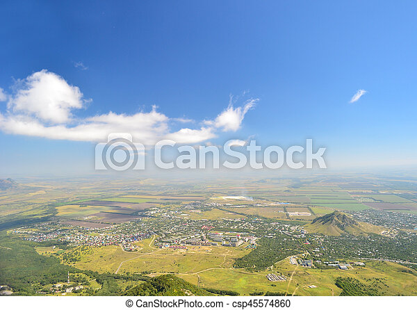 Bird's-eye view to landskape - csp45574860