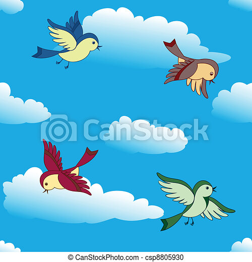 birds flying in sky vector birds flying in blue sky vector rh canstockphoto com birds flying clipart free flying birds clipart png