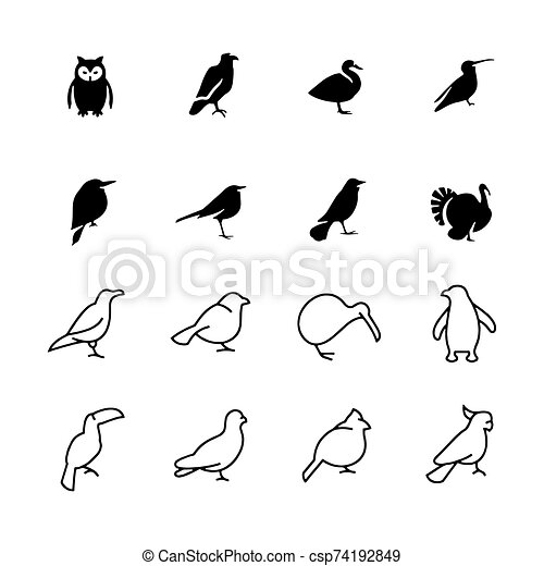 Birds icon isolated on background Vector illustration - csp74192849