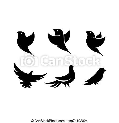 Birds icon isolated on background Vector illustration - csp74192824