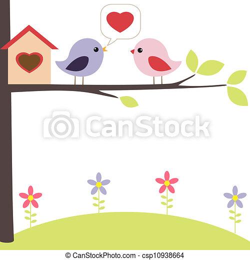 Birds in love - csp10938664