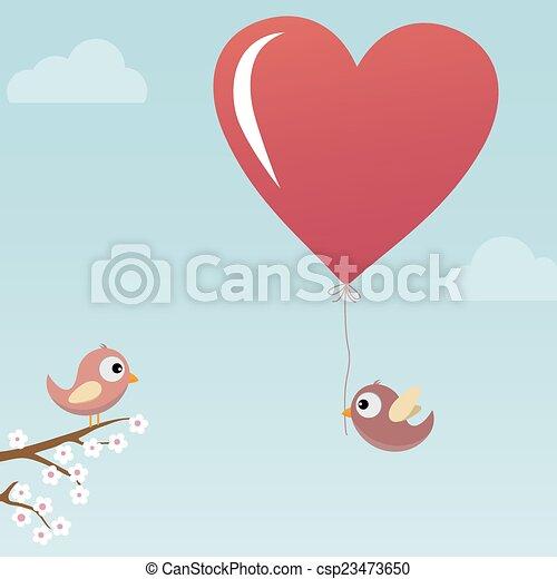 Birds in Love - csp23473650