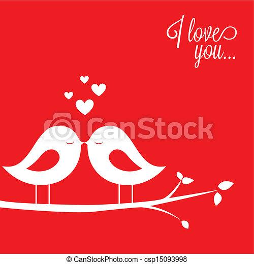 birds in love - csp15093998