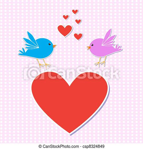 Birds in love - csp8324849
