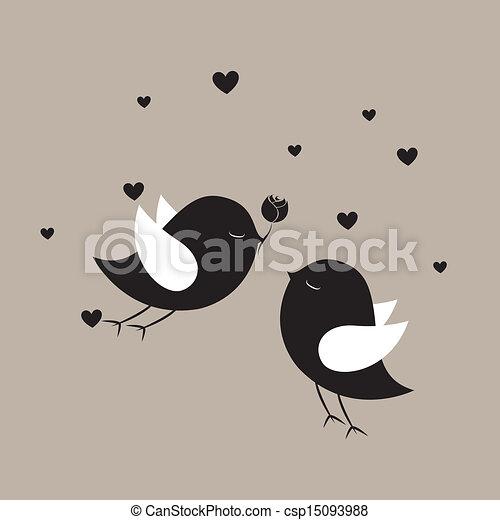 birds in love - csp15093988