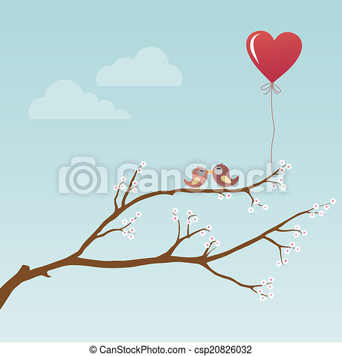 Birds in Love - csp20826032