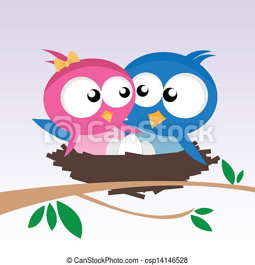 birds in love - csp14146528