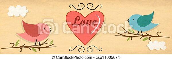 Birds in love - csp11005674