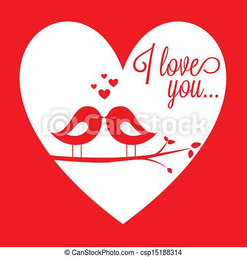 birds in love - csp15188314