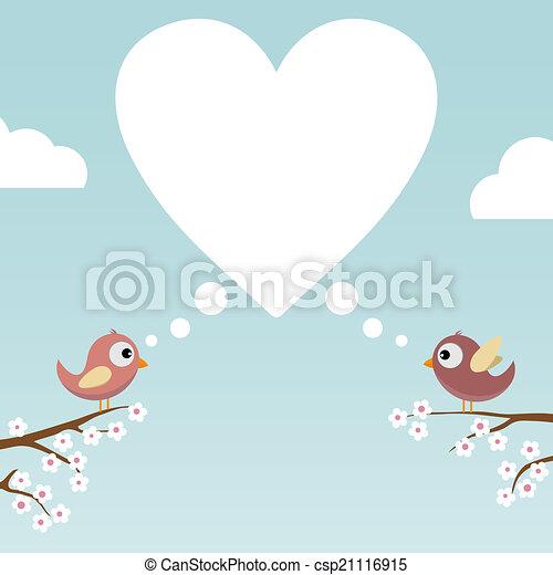 Birds in Love - csp21116915