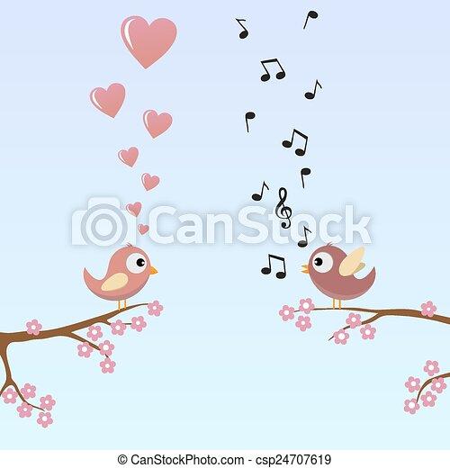 Birds in Love - csp24707619