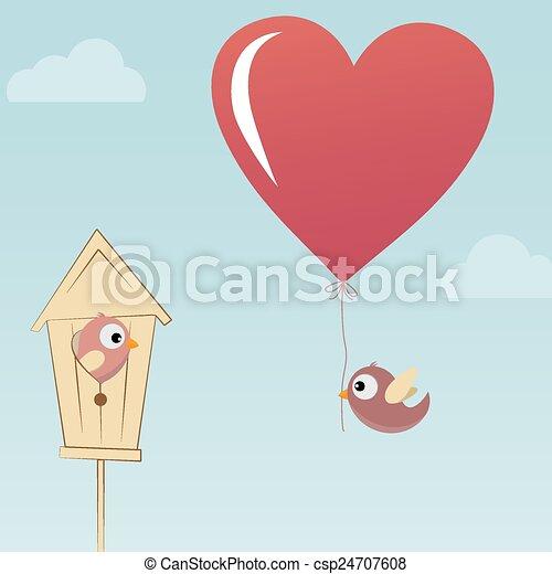 Birds in Love - csp24707608