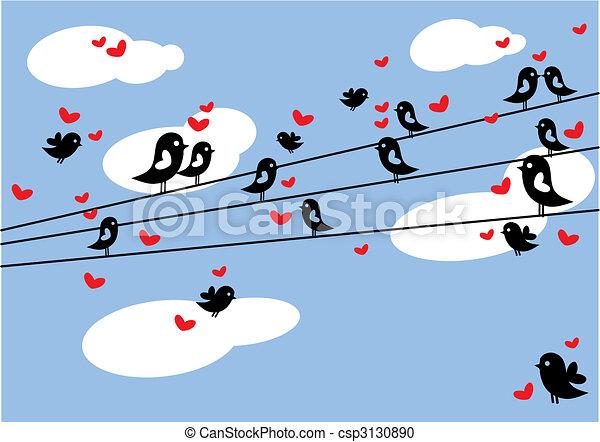 birds in love - csp3130890