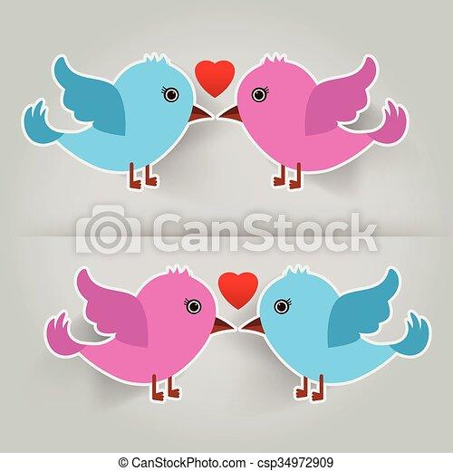 birds in love - csp34972909