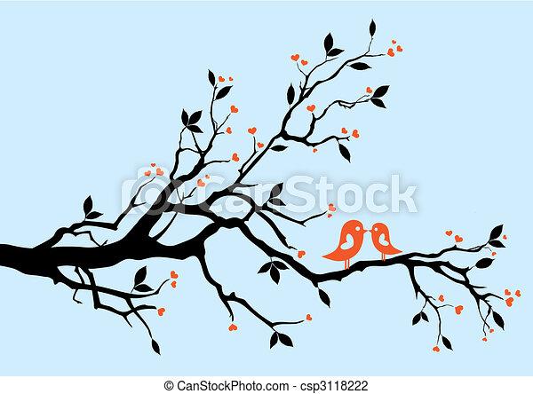 birds kissing - csp3118222