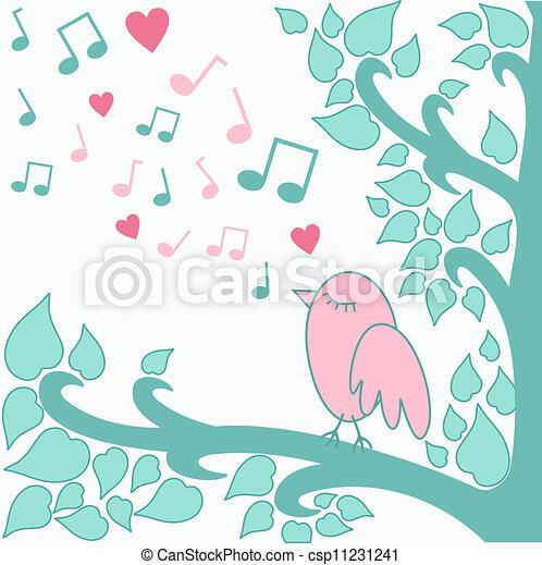 bird`s-love-song - csp11231241