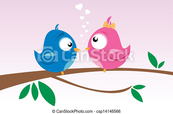 birds on a branch - csp14146566