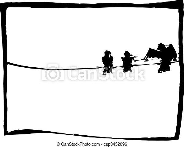 Birds on a wire - csp3452096