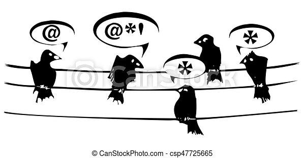 Birds on a Wire - csp47725665