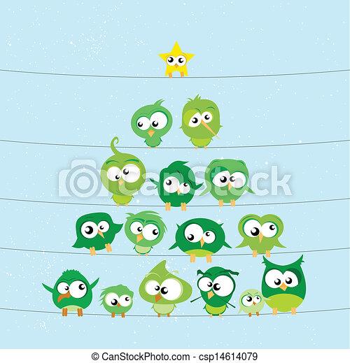 birds on wires - csp14614079