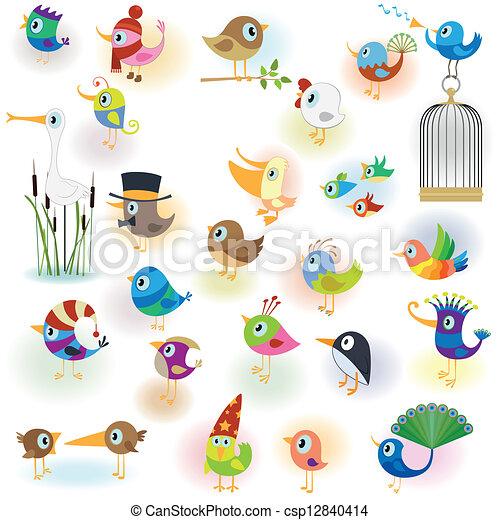 Birds set - csp12840414