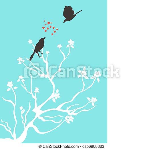 birds talk love - csp6908883
