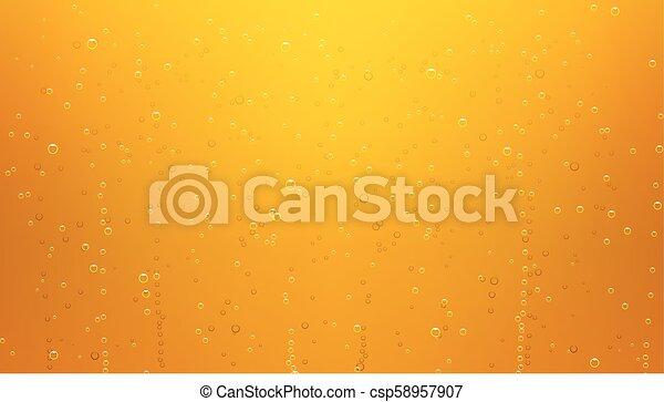 birra, bolle, fondo - csp58957907
