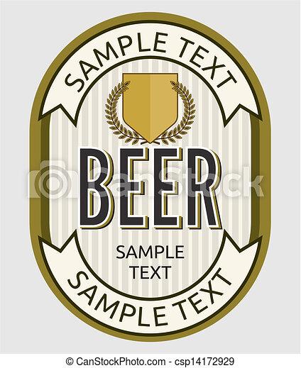 birra, etichetta - csp14172929