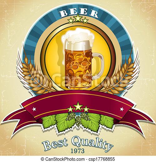 birra, etichetta - csp17768855