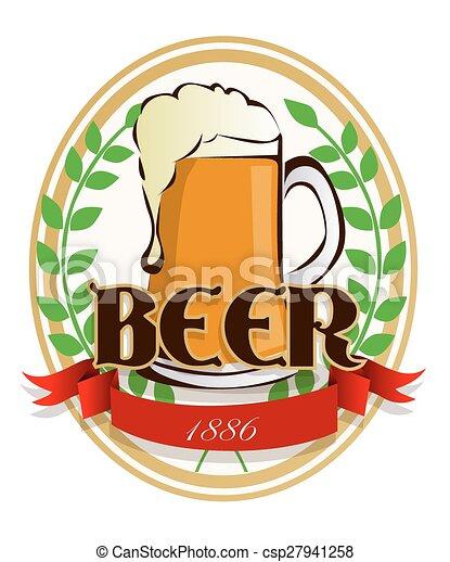 birra, etichetta - csp27941258